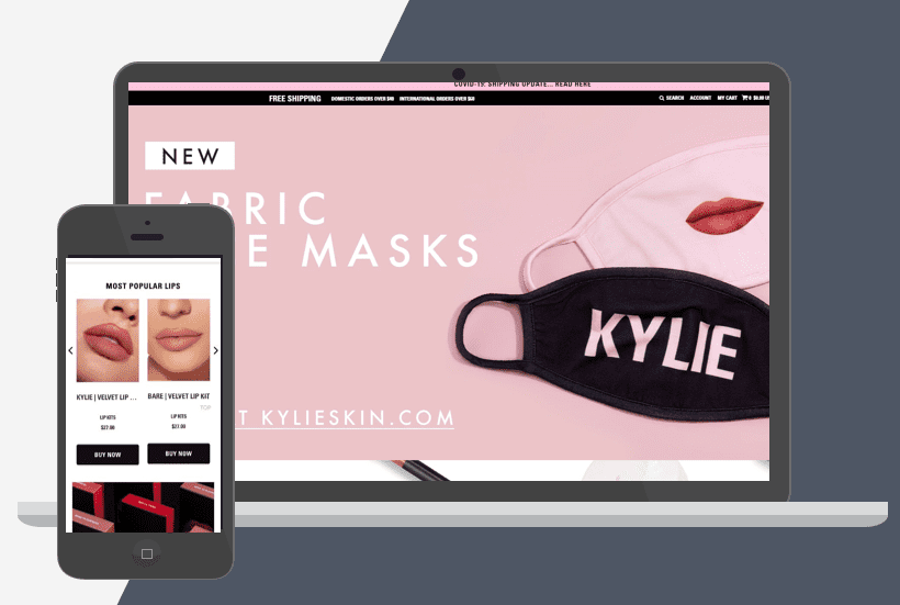 Kylie Cosmetics Shopify Plus Store