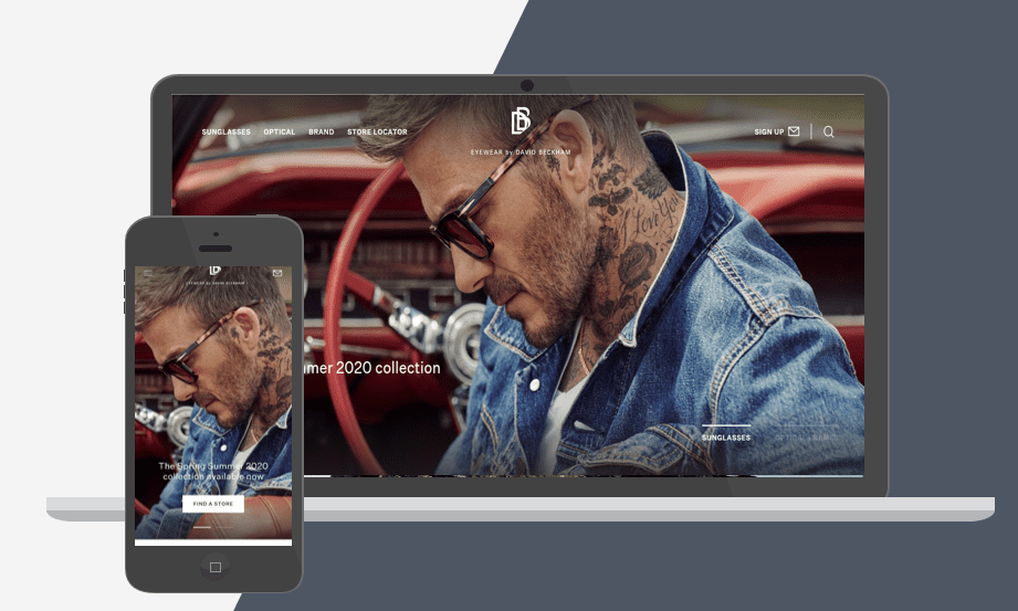 David Beckham Shopify Plus Store