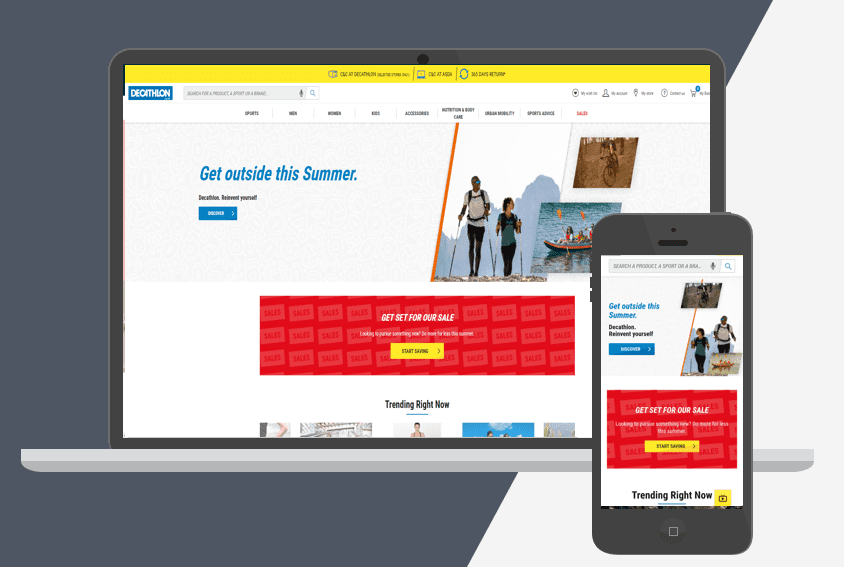 Decathlon Shopify Plus store