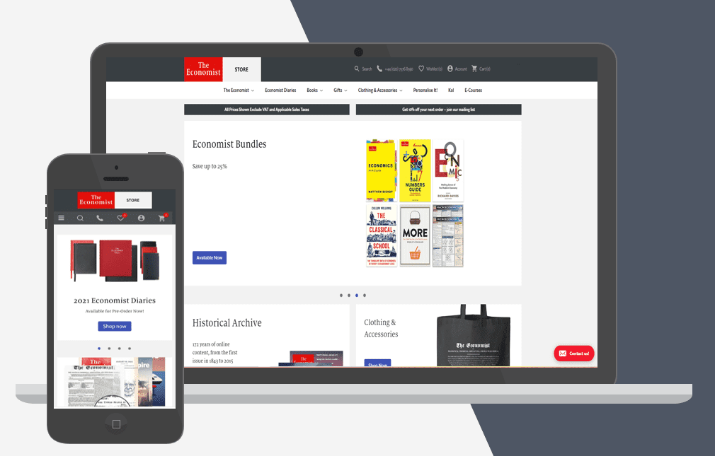 The Economist Shopify Plus store
