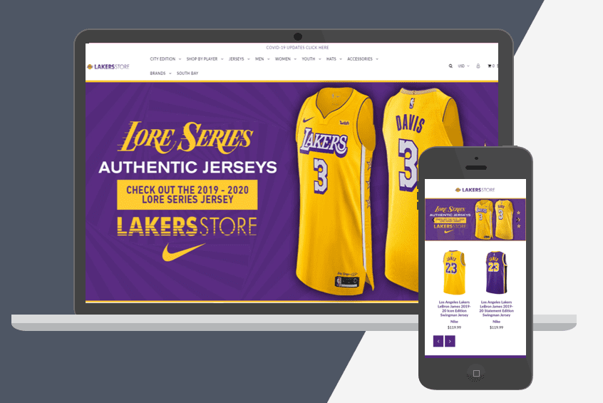 LA Lakers Shopify Plus Store