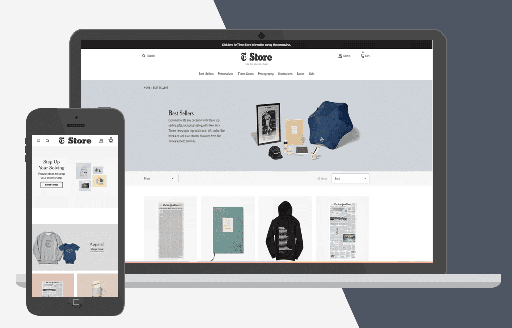 The New York Times Shopify Plus Online Store