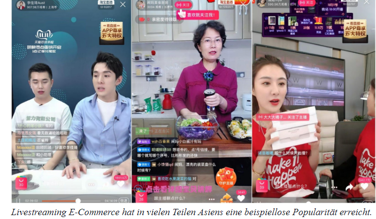 E-Commerce LIvestream Asien